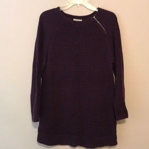 Plum knit sweater